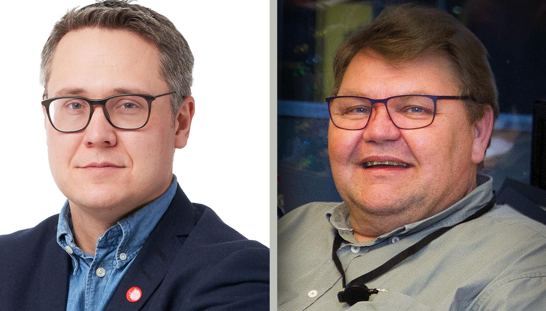 Två nöjda EU-parlamentariker - Johan Danielsson (S) och Peter Lundgren (SD).