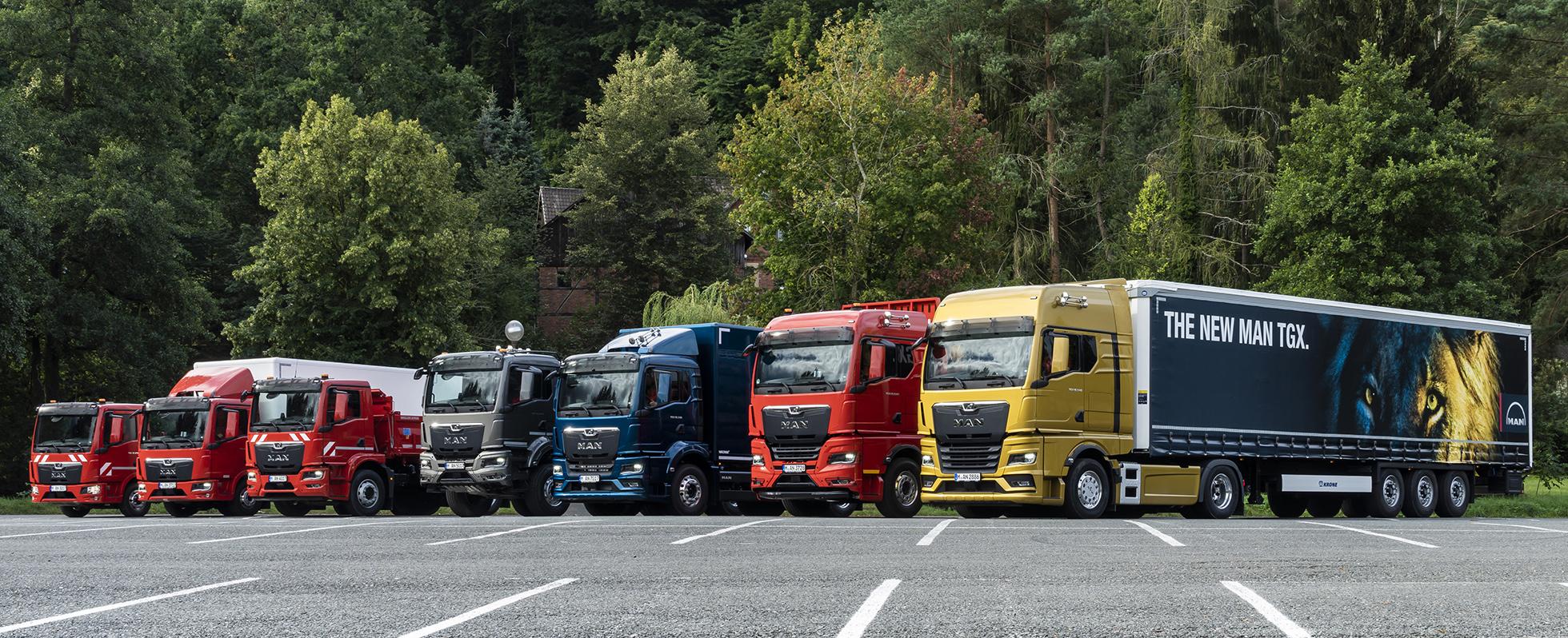 MAN nya lastbilsprogram från 7,5 ton och uppåt. Foto: MAN
