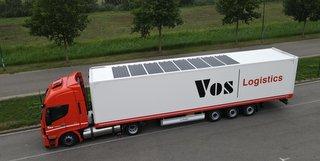 Vos Logistics testar också solpanelerna och är hittills nöjda. Foto: IM Efficiency.