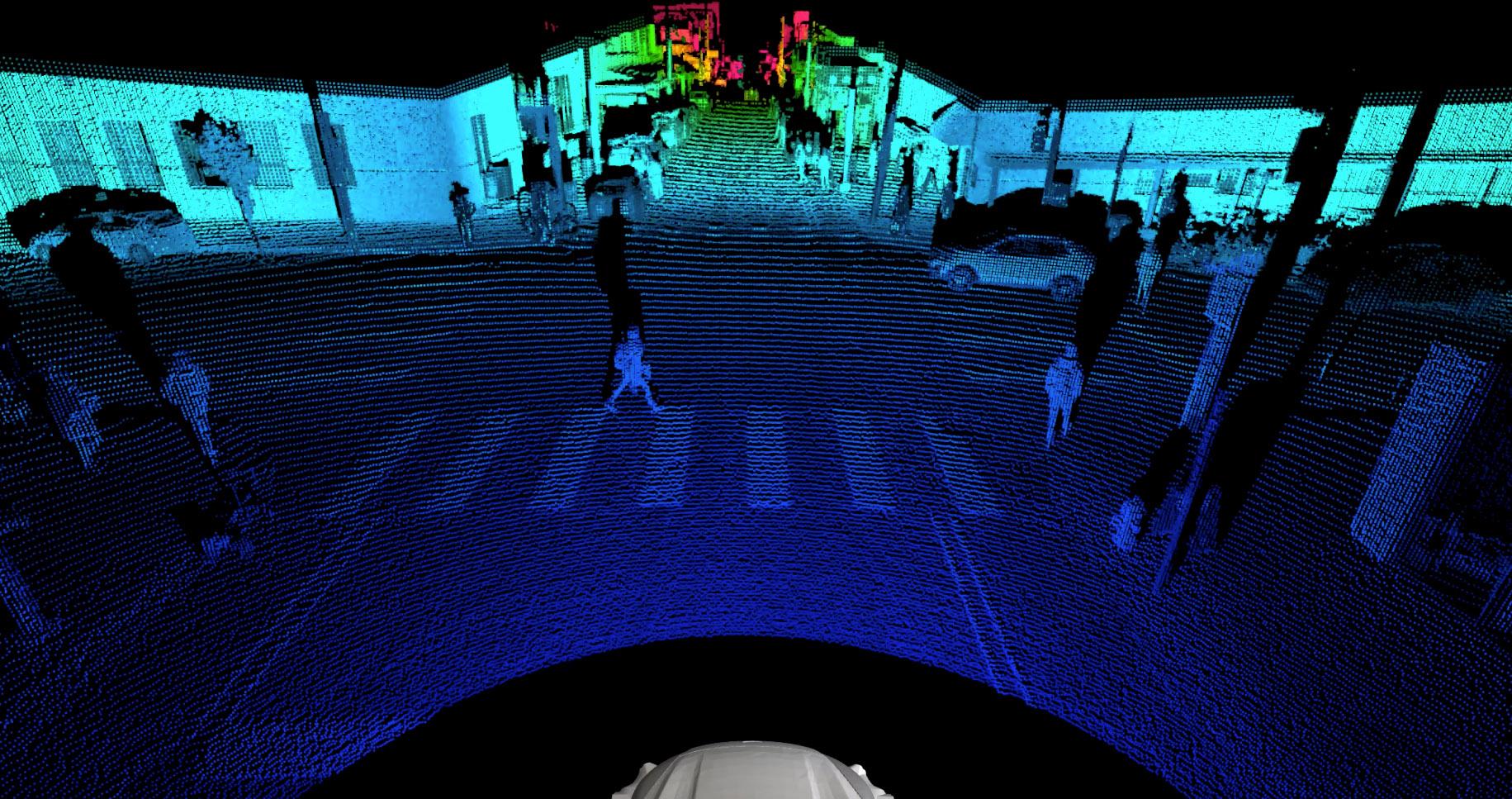 Det nya Argo lidarsystemet kan se 400 meter framför bilen och förutse vad fotgängare, cyklister och andra fordon kommer göra. Foto: Volkswagen