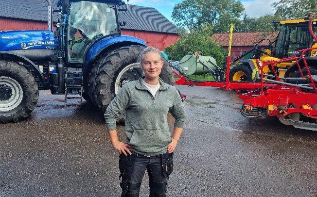 Lysette Josefsson är en ung spannmålslantbrukare som ser att ytterligare ökade kostnader för svenskt lantbruk gör det svårare att konkurrera med utländska importer.